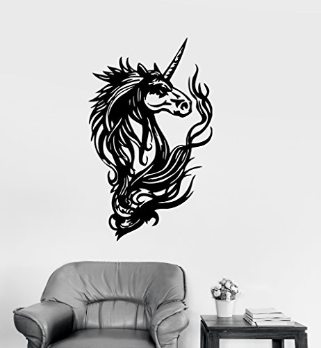 Large Vinyl Decal Unicorn Fantasy Myth Kids Girl Room Wall Stickers (ig158)