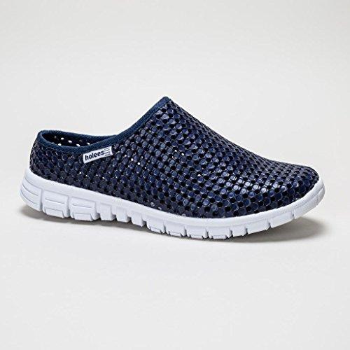 Holees Breeze Chaussures Ouvertes A L'Arrière Détente (Bleu Marine)