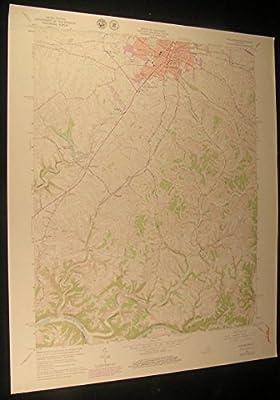 Winchester Kentucky Forest Grove Elkin 1979 vintage USGS original Topo chart map