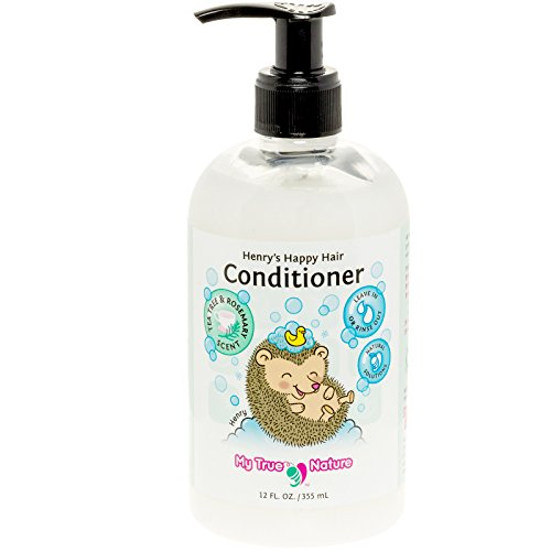 Natural Kids Conditioner - Henry's Happy Hair Paraben Free Detangler Conditioner - Rosemary/Tea Tree, 12oz