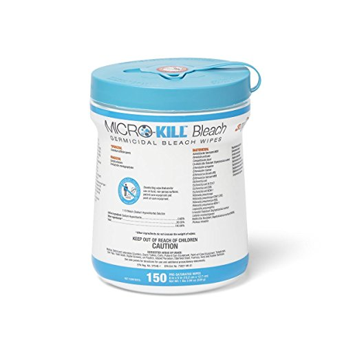 Cleaner Wipes (Medline MSC351410AN1 Micro-Kill Bleach Germicidal Bleach Wipes, 6