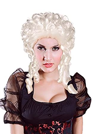 Saphira peluca plateada barroco María Antonieta