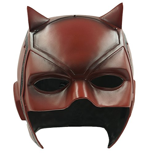 Hongzhi Craft Daredevil Matt Murdock Mask Movie PVC Helmet Half Face Cosplay Costume Halloween Party Props