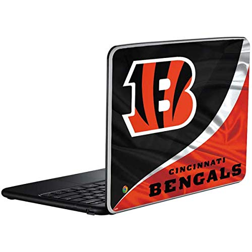 Skinit Cincinnati Bengals Chromebook Skin - Officially Licensed NFL Laptop Decal - Ultra Thin, Lightweight Vinyl Decal Protection
