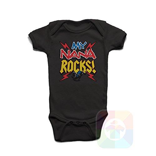 Baby Onesie Rocks T-shirt (Custom Tshirts and Hats Baby Onesie My Nana Rocks - 8292)
