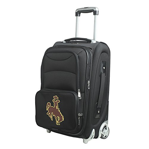 NCAA Wyoming Cowboys In-Line Skate Wheel Carry-On Luggage, 21-Inch, Black by Denco