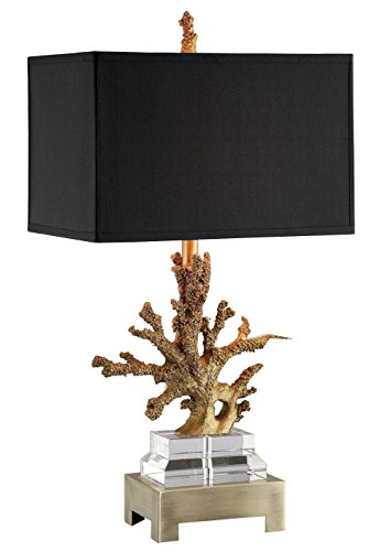 Amita Trading Gold Coral Table Lamp with Shade