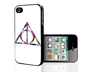 """Hipster Floral Print Sign of the """"Deathly Hallows"""