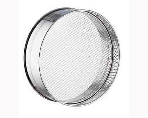 "Cerutti Inox Reinforced Stainless Steel Coarse Mesh Sieve, 30cm by 11.8"", Silver"