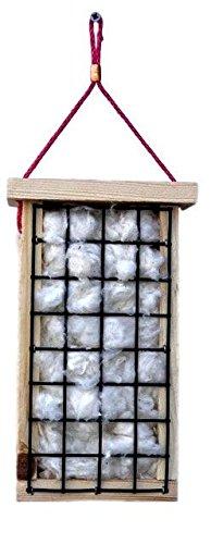 Bird Nesting Material, Hummingbird Bird Nester, Organic Cotton Bird Nest (House Organic Cotton)