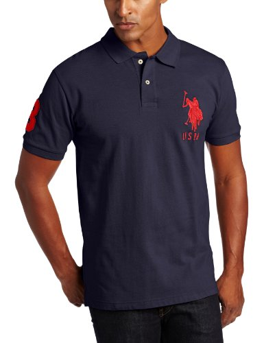 U.S. Polo Assn. Men's Solid Short Sleeve Pique Polo, Classic Navy, X-Large (Classic Solid Pique Polo)