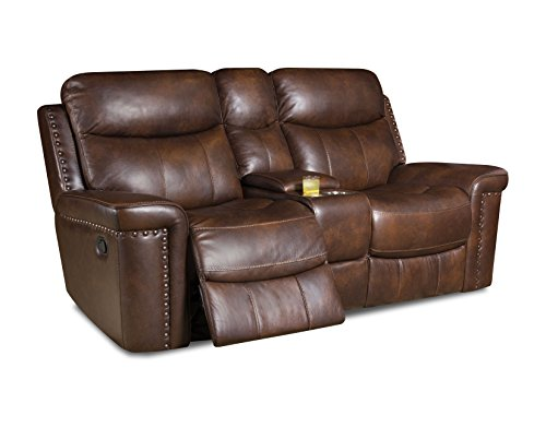Cambridge 98526DRL-CO Aspen Leather Double Reclining Loveseat