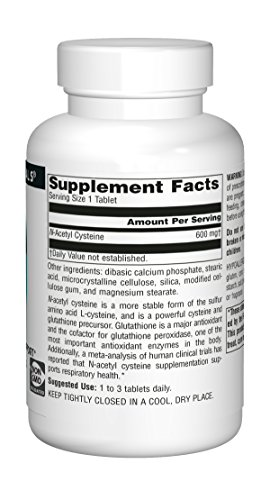 Source Naturals N-Acetyl Cysteine 600mg Powerful Antioxidant Protection - Pure Enzymes - 120 Tablets by Source Naturals (Image #3)