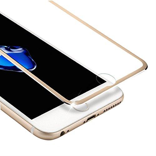 VIUME iPhone 8 7 Screen Protector, Full Coverage Tempered Glass Screen Protector Edge to Edge Protection Apple iPhone 7 / iPhone 8 Film - 4.7 (Metal Gold)
