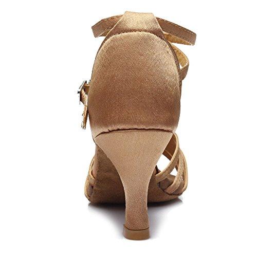 De 7 Talon Chaussures Modle Latine Beige Classique Danse Ukqu213 Cm Hipposeus qP5ZHwR