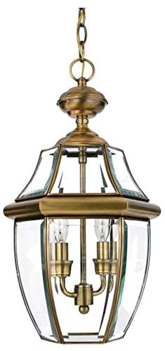 Quoizel NY1179A  Newbury 3-Light Outdoor Lantern, Antique Brass by Quoizel (Image #2)