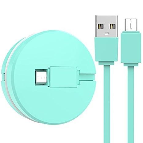WorCord Cable Micro USB Retráctil Macaron Diseño 1M Micro ...
