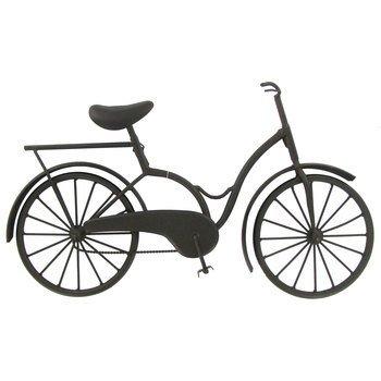 Hanging Black Iron Decorative Bicycle (Basket Bicycle Metal Wall)