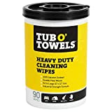 "Tub O Towels Heavy-Duty 10"" x 12"" Size Multi-Surface Cleaning Wipes, 90 Count Per Canister"