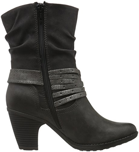 s.Oliver 25361, Botines para Mujer Gris (ANTHRACITE 214)