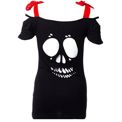 Banned - Camiseta - para mujer Negro negro 14 UK