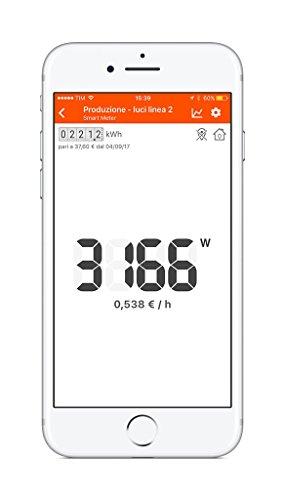 Rialto Kit Energy Monitor: monitoraggio e analisi via app dei consumi elettrici di casa, ufficio e azienda (kit di base) 5 spesavip