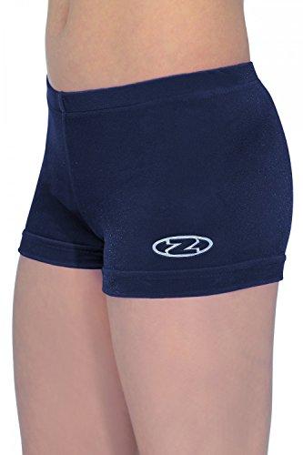 The Zone Z2000 - Pantalones cortos de gimnasia (de tiro corto, velour y lycra) azul marino