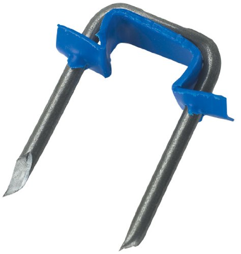 Gardner Bender MSI-550 Polyethylene Insulated Metal Staple, ½ Inch, 14/2 & 12/2 (NM) Non-Metalic Cable, 500 Pk, Blue by Gardner Bender