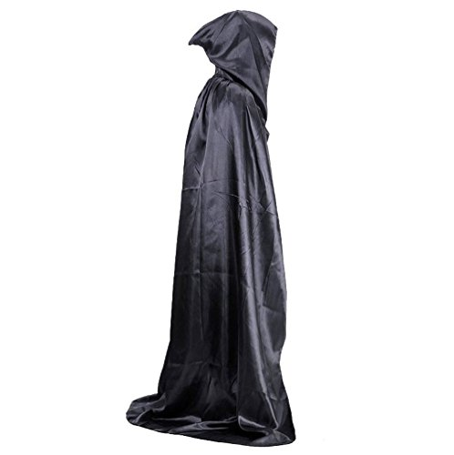 [Fantasic LLC Halloween Hooded Cloak Cosplay Costume(Black)] (Adult Vampire Halloween Costumes)