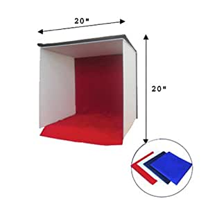 CowboyStuido 20-Inch Photography Easy-carry Square Tent Studio Light Box/Tent