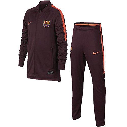 Nike 2017-2018 Barcelona Squad Knit Tracksuit (Night Maroon) - ()