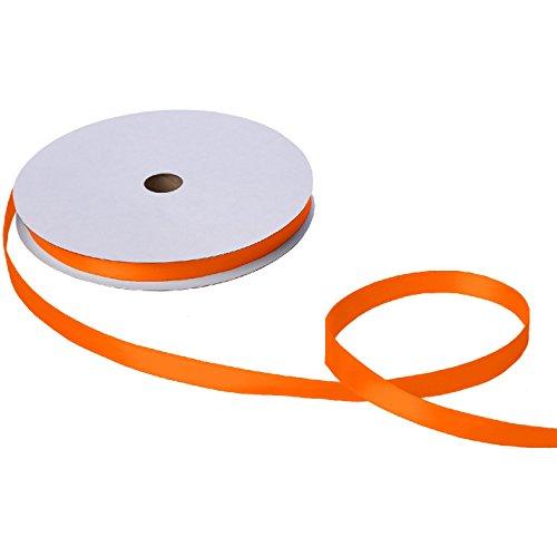 Jillson & Roberts Double-Faced Satin Ribbon, 5/8'' Wide x 100 Yards, Orange by Jillson Roberts