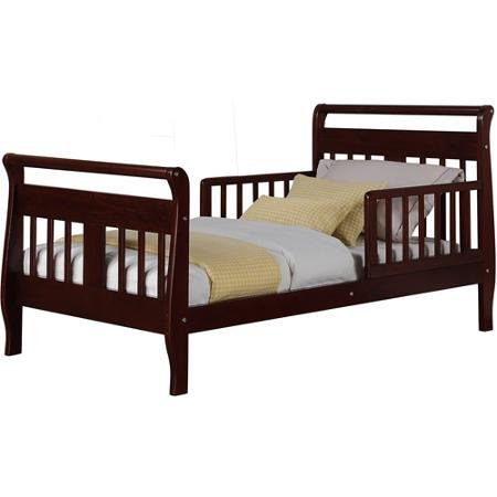 Furniture Sleigh Toddler Bed (Baby Relax Sleigh Toddler Bed, Espresso)