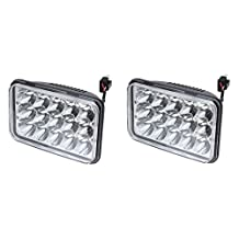 Turbo SII Rectangular 4x6 Inch LED Headlight Bulb Sealed Beam Replace HID Xenon H4651 H4652 H4656 H4666 H6545 Projector lens Fit For Peterbilt Kenworth FREIGHTLINER 2PC