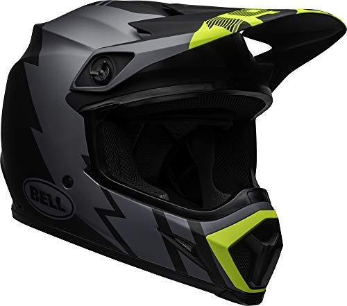Bell MX-9 MIPS Off-Road Motorcycle Helmet (Strike Matte Grey/Black/Hi-Viz, X-Large) (Bell Motor Cycle Helmet)