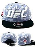 Reebok UFC New RBK MMA Performance Sublimated Era Gray White Black Snapback Hat Cap