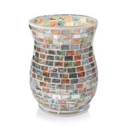 - Yankee Candle Havana Glass Mosaic Hurricane Jar Candle Holder