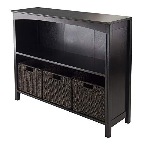 amazon com mik wood bookcase with 2 shelves bookcase with 3 corn rh amazon com 3 shelf bookcase 2 shelf bookcase