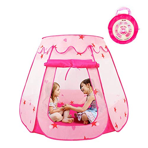 KIDAMI Pink Princess Pop Up Play Tent for