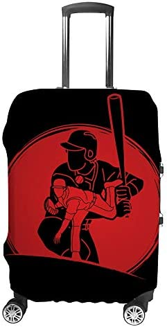スーツケースカバー 野球選手 伸縮素材 キャリーバッグ お荷物カバ 保護 傷や汚れから守る ジッパー 水洗える 旅行 出張 S/M/L/XLサイズ