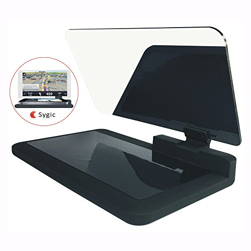 Head Up Display Holder,Max 6 Inches HD Reflector for Car HUD Cell Phone GPS Navigation Image (Gifts: one Non-Slip Mat and one Reflective Film)