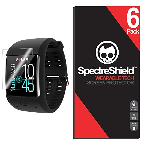 Spectre Shield Polar M600 Screen Protector (6-Pack) Accessory Screen Protector for Polar M600 Case Friendly Full Coverage Clear Film