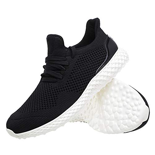 Azooken Men's Lightweight Lace Up Casual Walking Shoes Breathable Athletic Fitness Jogging Tennis Racquet Sport Cycling Running Sneakers