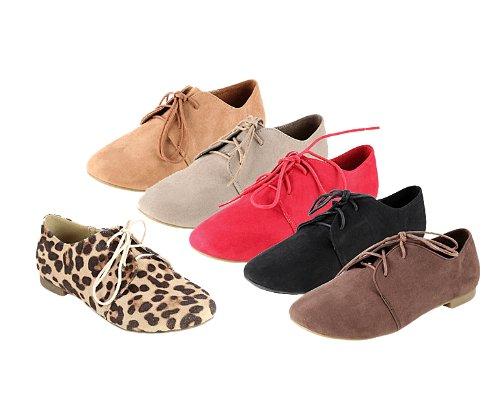 ANNA Women's Flats 1 Ox Oxford Tan Shoes rS68rqw