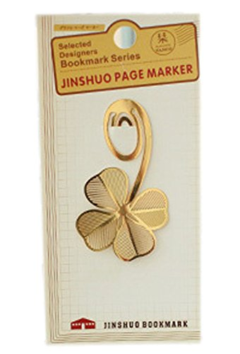 (Set of 2 Creative Beautiful Bookmarks Metal Clips, Four Leaf Clover)