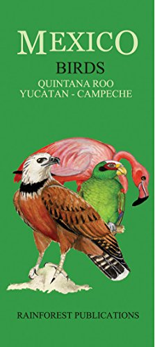 (Mexico Caribbean Regions Birds Guide (Laminated Foldout Pocket Field Guide) (English and Spanish)