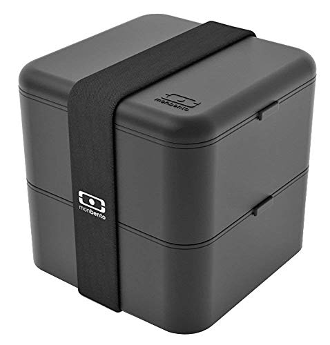 Bento Black Box - monbento MB Square Box - The Bento Box - Travel Lunch Box - Black