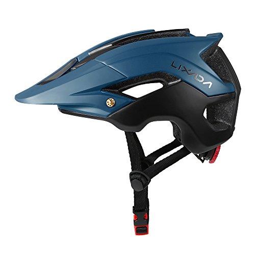 Lixada Mountain Bike Helmet Ultralight Adjustable MTB Cycling Bicycle Helmet Men Women Sports Outdoor Safety Helmet with 13 Vents (Dark Green+Black)