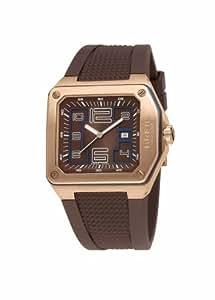 Breil BW0388 - Reloj analógico de caballero de cuarzo con correa de goma marrón