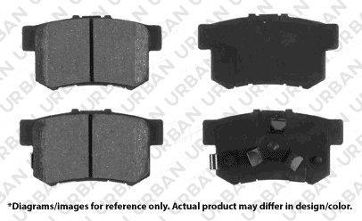 Works with RDX CR-V Rear Kit 4 Ceramic Pads 5lug 2 OEM Replacement Great-Life Premium Disc Brake Rotors -Combo Brake Kit
